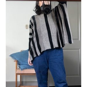 jack of all patterns poncho sweater
